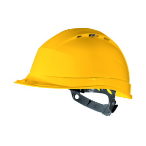 DELTA/代尔塔 QUARTZ4系列PP安全帽 102009 黄色(JA) 8点式织物内衬 不含下颏带 1顶