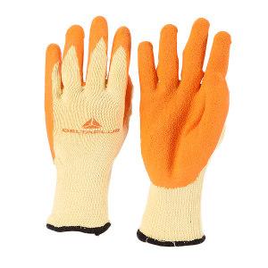 DELTA/代尔塔 棉涤混纺乳胶涂掌手套 201730 9码 橙色涂层 1打