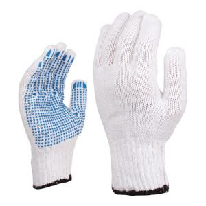 DELTA/代尔塔 7针棉涤混纺点塑手套 208006 9码 1打