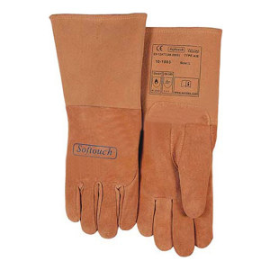 WELDAS/威特仕 绒面猪青皮长袖筒焊接手套 10-1003 XL 34cm 1副