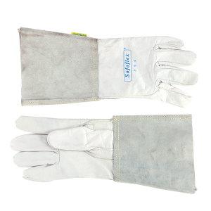 WELDAS/威特仕 白色牛青皮长袖筒焊接手套 10-1005 XL 34cm 1副