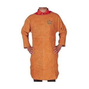 WELDAS/威特仕 金黄色长袖反穿围裙 44-1847 XL 100cm 1条