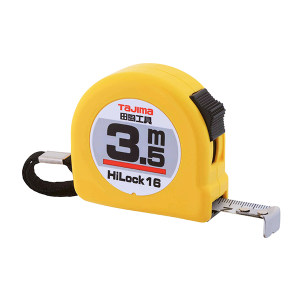 TAJIMA/田岛 HI-LOCK型卷尺 1001-0033 3.5M×16mm 手动锁定 1把