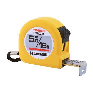 TAJIMA/田岛 HI-LOCK型卷尺 1001-0126 5.0M×25mm 手动锁定 公英制 1把