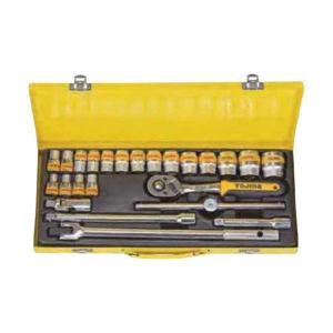TAJIMA/田岛 12.5MM系列套筒组套(24pcs) 1501-1002 24件 8-32mm 铁盒 1套