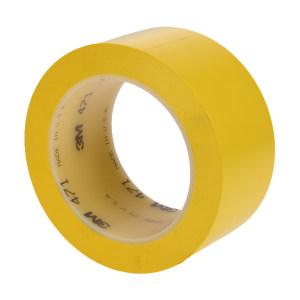 3M PVC单色地面标识胶带 471 黄色 100mm*33m 1卷