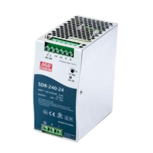 MW/明纬 SDR-240系列240W单组输出工业用DIN导轨型有PFC功能电源 SDR-240-24 X类 1个