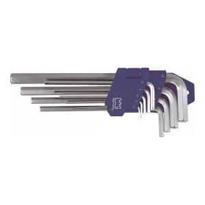 GREATWALL/长城精工 塑插亚光平头加长内六角扳手套装 GW-338709 9件 1.5-10mm 1套