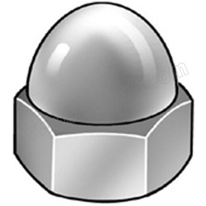 ZKH/震坤行 DIN1587 六角盖形螺母 不锈钢304 A2-70 本色 211409003000000000 M3 1000个 1包