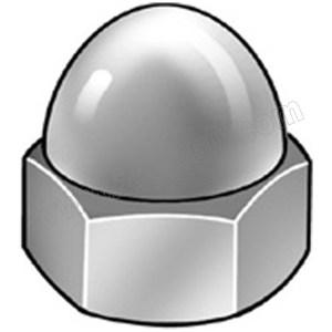 ZKH/震坤行 DIN1587 六角盖形螺母 不锈钢304 A2-70 本色 211409006000000000 M6 1000个 1包
