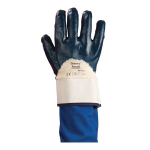 ANSELL/安思尔 经济款丁腈涂层耐磨耐油手套 48-913 9码 蓝色 1打