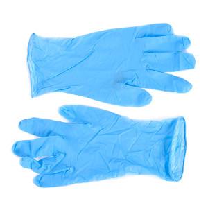 ANSELL/安思尔 蓝色一次性无粉丁腈橡胶手套 92-200 M 无粉指麻 1盒