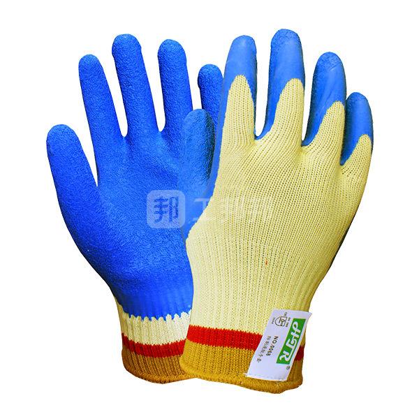 HTR/海太尔 乳胶掌涂防割手套 0068 均码(L) 5级防割 1副