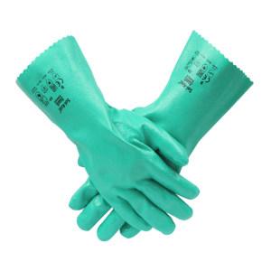 ANSELL/安思尔 带棉内衬绿色丁腈手套 39-122 9码 1副