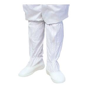 HYTECH/华涌 PVC防静电长筒靴 HS-301 42码 白色条纹 1双