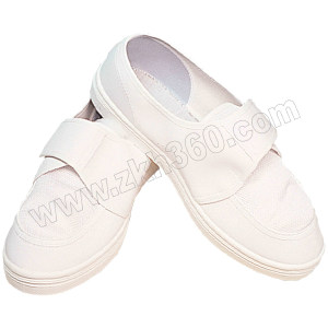 HYTECH/华涌 PVC防静电网眼布鞋 HS-303 42码 白色 1双