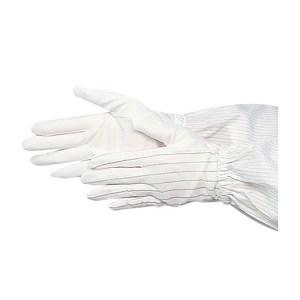 HYTECH/华涌 PU涂层防静电止滑手套 HL-401 L 白色条纹 1包