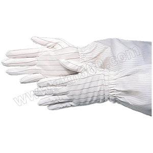 HYTECH/华涌 条纹防静电手套 HL-403 S 白色 1包
