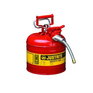 JUSTRITE/杰斯瑞特 Ⅱ类钢制安全罐(带软管) 7250130Z 19L 红色 1个