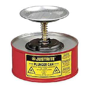 JUSTRITE/杰斯瑞特 钢制盛漏式活塞罐 10108 1L 红色 1个