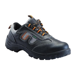 DUNWANG/盾王 牛皮透气网布安全鞋 8111 41码 黑色 防砸耐油耐弱酸碱 带独立鞋盒 1双