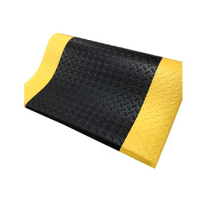 ECOBOOTHS/爱柯部落 索恩经济型防静电抗疲劳垫 2005 黄黑 90*60cm 12mm厚 1片