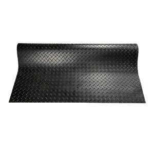 ECOBOOTHS/爱柯部落 坦瑞耐磨防滑钢花纹橡胶走道垫 1002 黑色 150*240cm 3mm厚 钢花纹 1片