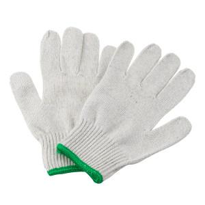 AIWIN Tuf-Coton 600棉纱作业手套(精) 10452 优质涤棉 22cm长 600g 绿边 12副 1打