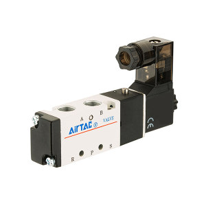AIRTAC/亚德客 4V300系列电磁阀 4V330C10B 三位五通 DIN插座式 接口Rc3/8 DC24V 1个
