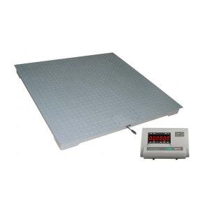 YJ/亚津 碳钢单层电子地磅 SCS-P771A-NN-11010 量程1000kg 精度200g 秤盘尺寸1000×1000mm 1个