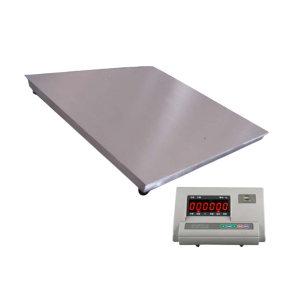 YJ/亚津 不锈钢单层电子地磅 SCS-P771A-SS-11515 量程1000kg 精度200g 秤盘尺寸1500×1500mm 1个