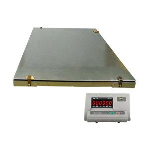 YJ/亚津 不锈钢包边双层电子地磅 SCS-P772A-NS-051215 量程500kg 精度100g 秤盘尺寸1200×1500mm 1个