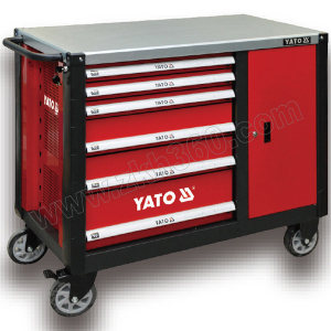 YATO/易尔拓 高档6抽屉边柜工具车 YT-09002 1000×570×1131mm 1台