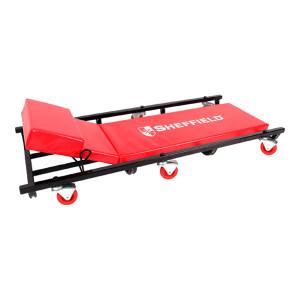 "SHEFFIELD/钢盾 可调整支架式修车板 S113058 40"" 红色 1个"