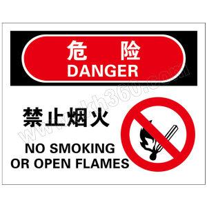 BRADY/贝迪 火灾消防类危险标识 BOV0522 乙烯不干胶 180*230mm 危险-禁止烟火 1片