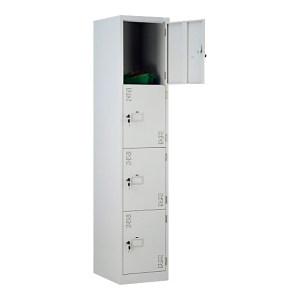 JIDA/集大 四门更衣柜 U375-145 375×457×1800mm 4节单开门 门内无层板 浅灰色 1个