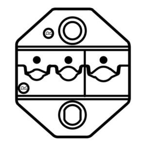 PROSKIT/宝工 绝缘端子口模 CP-236DR 椭圆形AWG22-10 适用于CP-371/1PK-3003F/CP-3005F 1副