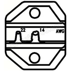 PROSKIT/宝工 非绝缘端子口模 CP-236DU 心形AWG22-14 适用于CP-371/1PK-3003F/CP-3005F 1副