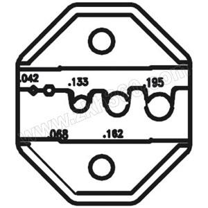 PROSKIT/宝工 光纤接头口模 CP-336DF1 方形1.07/六角1.73/圆形3.38-4.95mm 适用于CP-371/1PK-3003F/CP-3005F 1副
