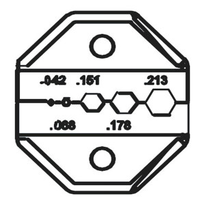 PROSKIT/宝工 光纤接头口模 CP-336DF2 方形1.07/六角1.73-5.41mm 适用于CP-371/1PK-3003F/CP-3005F 1副