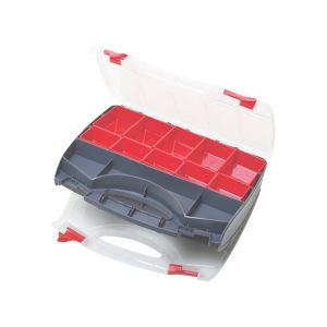PROSKIT/宝工 多功能双面开零件盒 SB-3428SB 340×280×80mm 内附内盒10个 1只