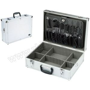 PROSKIT/宝工 白铝工具箱 9PK-730N 458×330×150mm 附工具板 1只