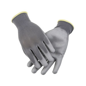 AIWIN ECO-Xtrflex 涤纶灰PU手套(掌浸) 10336 PU掌部涂层 7号 S 1副