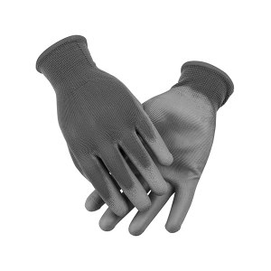 AIWIN ECO-Xtrflex 涤纶灰PU手套(掌浸) 10336 PU掌部涂层 9号 L 1副