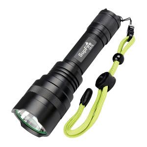 SUPFIRE/神火 强光手电筒 C8-T6 10W 白光 标配:手电+1节紫电池+AC16充电器+吊盒+绿绳 1把