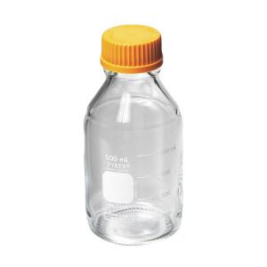 AS ONE/亚速旺 培养基瓶(带橙色盖) 1-4994-04 250mL 尺寸:70×138×30mL 螺纹规格:GL-45 透明 1个