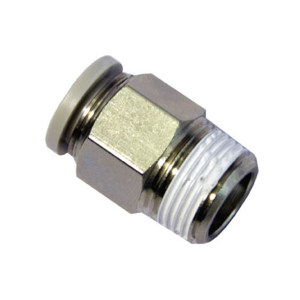 AIRTAC/亚德客 PC系列螺纹直通管接头(插管-螺纹类) PC1002 黄铜接头 快插10mm-外螺纹Rc1/4 1个