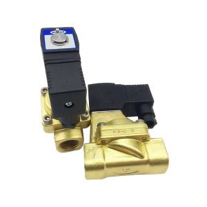 AIRTAC/亚德客 2W系列流体控制阀(先导常闭型) 2W150-15A 15mm 内螺纹接口R1/2 黄铜阀体 公称压力15bar 线圈电压AC220V 1个
