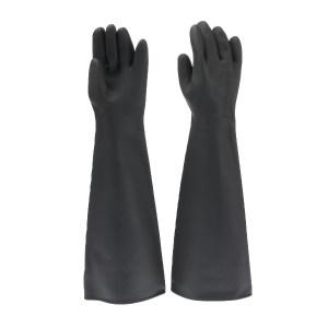WEIDIE/威蝶 黑色工业耐酸碱手套 60B 均码 60cm加厚 1副