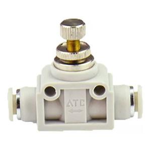 AIRTAC/亚德客 ASA系列管道节流型节流阀 ASA6 直型 快插接口6mm-6mm 1个